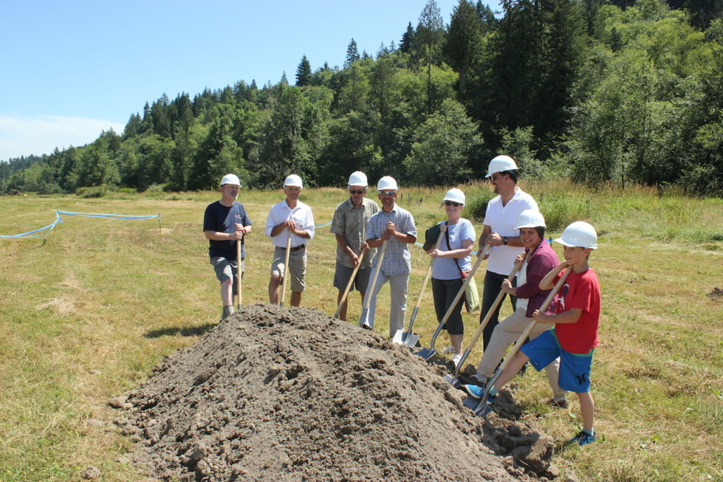 The Ohop Groundbreaking Celebration this Saturday marked the beginning of the newest phase of restoration. Photo credit: Emmett O'Connell