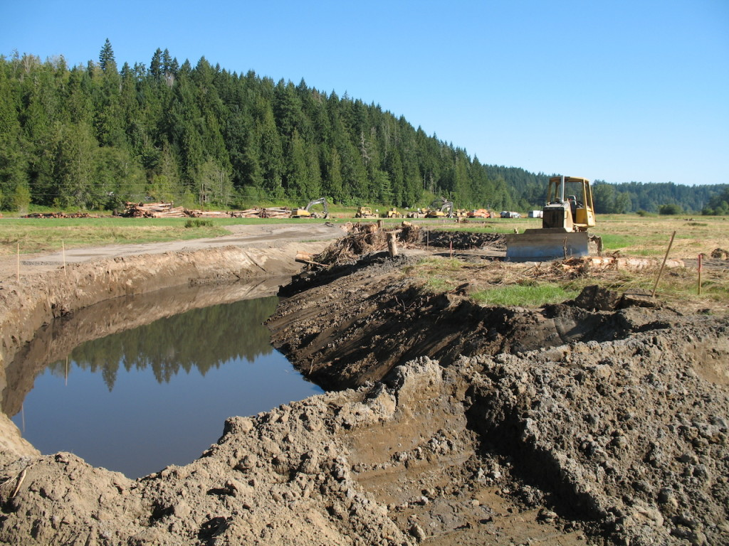 Construction progress in the Ohop Valley. Photo credit: Kim Bredensteiner